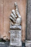 Capitoline Museums of Rome: Statues in the courtyard Stock Photography