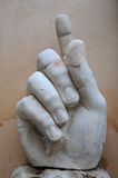 Right Hand of Colossus of Constantine Royalty Free Stock Photos