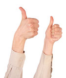 Right hand gives gesture Royalty Free Stock Images