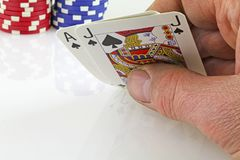 Card playing Royalty Free Stock Photo