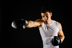 Right hand jab Royalty Free Stock Images