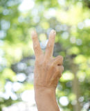 A right hand lift body language texture and background Stock Photo