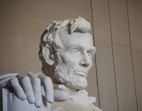 The Right Hand of Lincoln. The right hand of President Lincoln in the Lincoln Memorial, Washington, D.C., symbolizing his gentle touch, concern for the people Stock Photography
