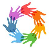 Right Hand Print icon 7 colors Royalty Free Stock Photo
