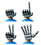Right hand of the robot. Rock-paper-scissors. Royalty Free Stock Images