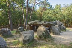 Right hand side view of Dolmen D45