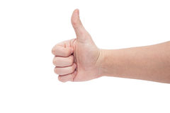 Right hand thumb up Stock Photography