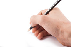 Right hand writing Stock Images