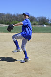 Right handed baseball pitcher royalty free stock images
