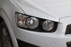 The right headlight of a car Royalty Free Stock Photos