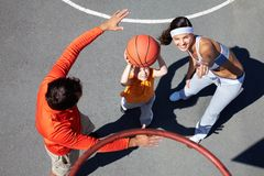Right in the hoop Royalty Free Stock Photos