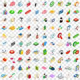 100 right icons set, isometric 3d style. 100 right icons set in isometric 3d style for any design vector illustration Stock Photography