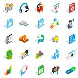 Right icons set, isometric style. Right icons set. Isometric set of 25 right vector icons for web isolated on white background Royalty Free Stock Photos