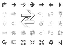 Right and left arrows icon. Arrow  illustration icons set. Right and left arrows icon. Arrow  illustration icons set Royalty Free Stock Photography