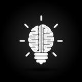 Right and left brain logo vector design. Creative brain idea concept background.Business idea and Education concept. Vector illustration vector illustration