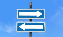 Right or left directional signpost Royalty Free Stock Photos