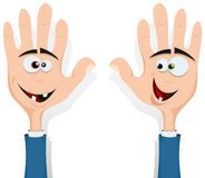 Right And Left Hands Up! Stock Photo
