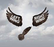 Right And Left Wing Political Problem Royalty Free Stock Photo