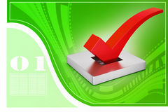 Right mark in attractive background, vote concept Royalty Free Stock Photo