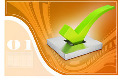 Right mark in attractive background, vote concept Royalty Free Stock Photos