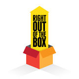 Right Out of the Box Royalty Free Stock Photography