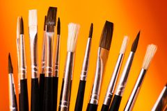 The Right Paintbrush Royalty Free Stock Image