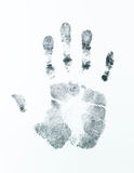 Right palm print. Image of a right palm print on a white sheet Royalty Free Stock Image