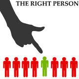 Right person. Finding the right person for the right job Royalty Free Stock Images