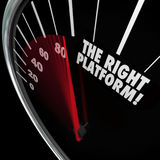 The Right Platform Speedometer Choose Best System Process Manage Stock Photos