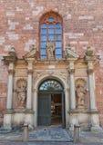 Right portal (1692) of St. Peter church in Riga, Latvia Stock Photos