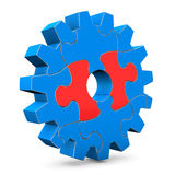 Right Puzzle Of Gear Royalty Free Stock Photography