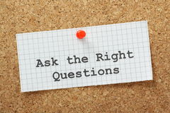 The Right Questions Stock Images