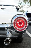 Right rear view of white sports car Stock Photo