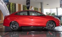 Right Red Toyota Yaris Ativ 2020 Car in Car Showroom