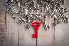 Right red vintage key success concept Stock Photo