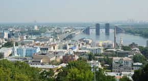 Right riverbank of Kiev Stock Images