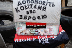 Right Sector piggy bank Royalty Free Stock Image