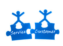 Right service to customer. Royalty Free Stock Photos
