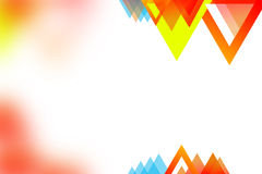 Right side orange and yellow triangle, abstrack background Stock Photo