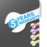 Right side sign - WARRANTY. Vector illustration Royalty Free Stock Photo