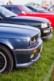 Right side view of black old car Stock Image