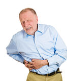 Right-sided abdominal pain Stock Photography