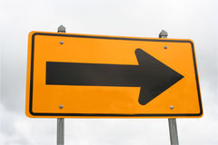 Right sign (traffic) Stock Photography