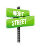 Right street road sign illustration design Stock Image