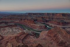 Right Before Sunrise, Dead Horse Point State Park, Utah, USA royalty free stock photography
