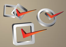 Right symbol. Three dimension Check Mark Symbol Royalty Free Stock Images