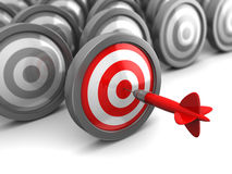 Right target Royalty Free Stock Photo