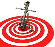 Right on target Stock Images