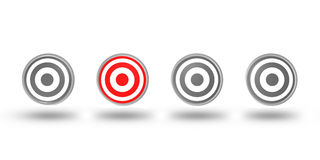 Right target selection concepton white background Stock Image