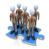 The Right Team. Computer Generated Image - The Right Team Royalty Free Stock Images